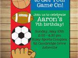 Sport Birthday Invitations Free Printable Sports Birthday Invitations Drevio