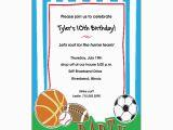 Sport Birthday Invitations Free Printable Sports Birthday Invitations Free