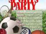 Sport Birthday Invitations Sport Invitation Templates Free
