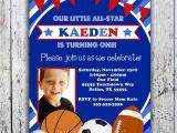 Sport Birthday Invitations Sports Birthday Invitation Printable by Bigdayinvitations