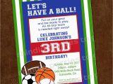Sport Birthday Invitations Sports Birthday Invitation Sports Party Invitation 1st