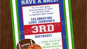 Sport Birthday Invitations Sports Birthday Invitation Sports Party Invitation 1st