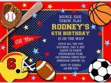 Sport Birthday Invitations Sports Birthday Party Invitations Sports Kids Birthday