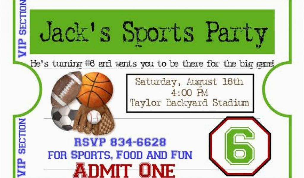 Download By SizeHandphone Tablet Desktop Original Size Back To Sports Birthday Party Invitation Wording