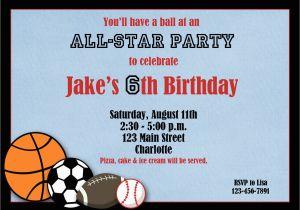 Sports Birthday Party Invitation Wording Sport Invitations Best Ideas