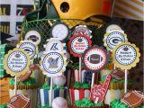 Sports themed Birthday Party Decorations Kara 39 S Party Ideas Sports Party Planning Ideas Supplies