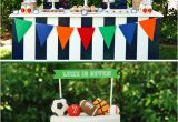 Sports themed Birthday Party Decorations Quot Let 39 S Play Ball Quot Sports Party Boys Birthday Hostess