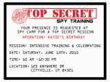 Spy Birthday Party Invitation Template Free Printable Spy Party Invitations Onecreativemommy Com