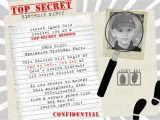 Spy Birthday Party Invitation Template Free top Secret Spy Birthday Party Invitation by Perfectcards