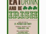 St Patrick S Day Birthday Invitations Lucky Shamrocks St Patricks Day Party Invitations Paperstyle