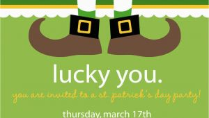 St Patrick S Day Birthday Invitations Lucky St Patrick 39 S Day Party Invitation by Nattysuedesigns1