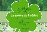 St Patrick S Day Birthday Invitations St Patricks Day Party Birthday Invitation by