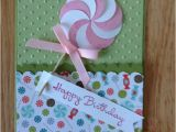 Stampin Up Childrens Birthday Cards Stampin Up Happy Birthday Card Pink Lollipop by