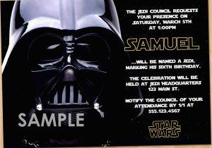 Star Wars Birthday Invitation Template Free Invitations Bagvania