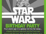 Star Wars Birthday Invitations Online Invitation