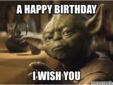 Star Wars Birthday Meme Generator Yoda Birthday
