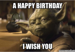 Star Wars Birthday Memes Yoda Birthday