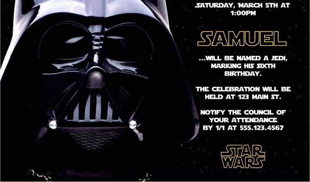Download By SizeHandphone Tablet Desktop Original Size Back To Star Wars Photo Birthday Invitations