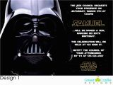 Star Wars Photo Birthday Invitations 20 Star Wars Invitations Darth Vader Custom Photo