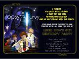Star Wars Photo Birthday Invitations Lego Star Wars Birthday Party Invitation ashlee Marie