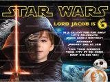 Star Wars Photo Birthday Invitations Space Starwars Party Invitation orderecigsjuice Info