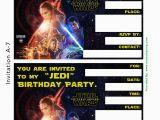 Star Wars Photo Birthday Invitations Star Wars Birthday Invitation Template Oxsvitation Com