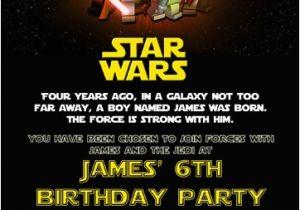 Star Wars Themed Birthday Party Invitations Star Wars Themed