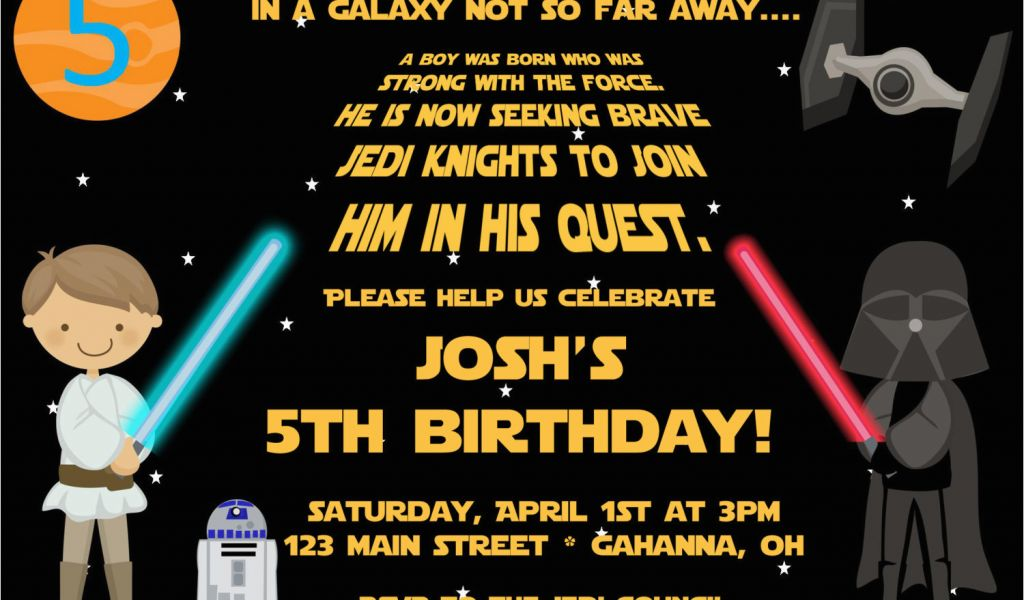picture relating to Free Printable Star Wars Party Invitations called Star Wars themed Birthday Get together Invites Absolutely free Printable