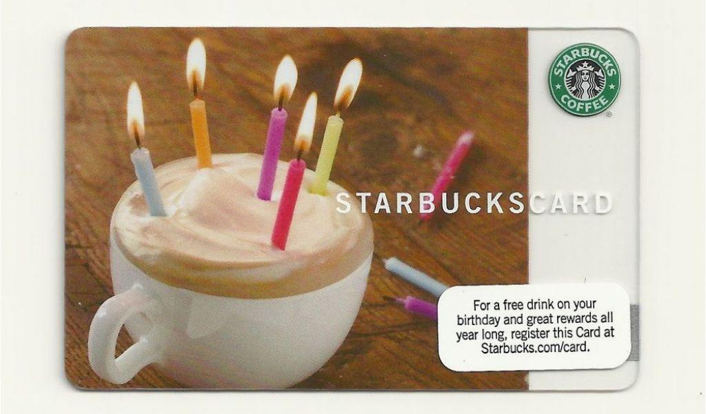 Starbucks Card Free Birthday Drink Gift 2009