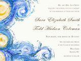 Starry Night Birthday Invitations Starry Night Digital Wedding Invitation Van Gogh