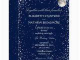 Starry Night Birthday Invitations Wedding Invitation Starry Night Moon Zazzle