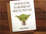 Starwars Birthday Card Funny Birthday Card Star Wars Birthday Card with Recipe