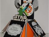 Starwars Birthday Card Star Wars Bb8 Happy Birthday Handmade 3d Pop Up Greeting Card