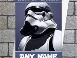 Starwars Birthday Card Star Wars Stormtrooper Birthday Card Personalised with