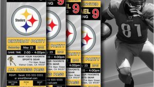 Steelers Birthday Invitations Pittsburgh Steelers Birthday Invitation Football by Digisport