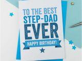 Step Dad Birthday Cards Happy Birthday Card for Step Dad Happy Birthday