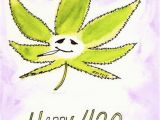 Stoner Birthday Cards Happy 420 Card Funny Stoner Greeting Card Pot Leaf Pot Head