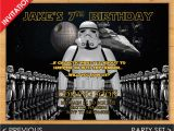 Stormtrooper Birthday Invitations Digital Star Wars Birthday Invitation Stormtrooper Invite