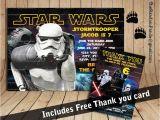 Stormtrooper Birthday Invitations Star Wars Invitation Stormtrooper Party Star Wars Birthday