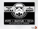 Stormtrooper Birthday Invitations Star Wars Stormtrooper Birthday Party Invitation Black
