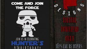 Stormtrooper Birthday Invitations Stormtrooper Birthday Invitation