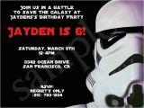 Stormtrooper Birthday Invitations Stormtrooper Star Wars Birthday Party Invitation Party
