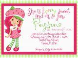 Strawberry Shortcake 1st Birthday Invitations Birthday Invites Best 10 Strawberry Shortcake Birthday