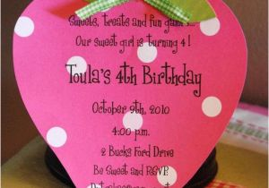 Strawberry Shortcake 1st Birthday Invitations Items Similar to 10 Strawberry Shortcake Birthday