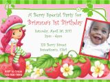 Strawberry Shortcake 1st Birthday Invitations Parties Quot R Quot Personal