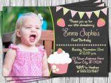 Strawberry Shortcake 1st Birthday Invitations Strawberry Birthday Invitation Strawberry Shortcake