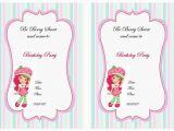 Strawberry Shortcake 1st Birthday Invitations Strawberry Shortcake Birthday Invitations Free Printables