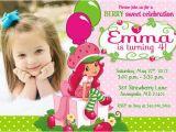 Strawberry Shortcake 1st Birthday Invitations Strawberry Shortcake Birthday Invitations Strawberry