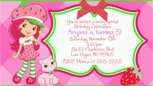 Strawberry Shortcake Birthday Invitations Free Printables Strawberry Shortcake Personalize Invitations Digital File or
