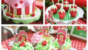 Strawberry Shortcake Birthday Party Decorations Kara 39 S Party Ideas Strawberry Shortcake Birthday Party